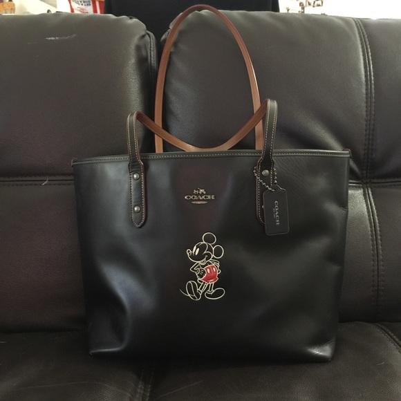 coach bags genuine x disney mickey tote bag poshmark